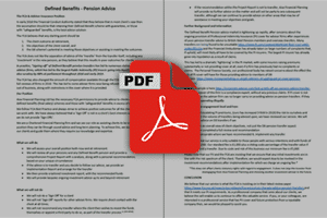 PDF 2 - Defined Benefits – What We Do Brochure