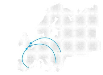 Expat Repatriation - Europe To The UK Map