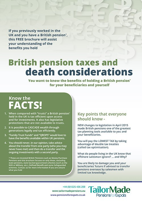 Expat Tax - British Pension Taxes And Death Considerations Guide Image