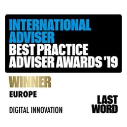International Adviser Best Practice Adviser Awards 2019 - Europe Digital Innovation WINNER